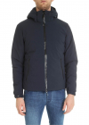 Blue Hooded Down Jacket