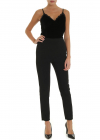 Black Jumpsuit With Chenille Top