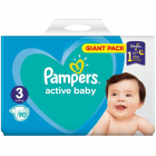 Scutece Active Baby 3 Giant Pack 90 buc