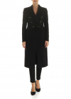 Aletha Double Breasted Coat In Black