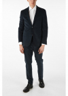 pin check velvet 2 button suit