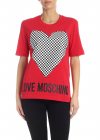 Checkered Heart T Shirt In Red