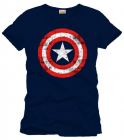Captain America T Shirt Shield Logo navy