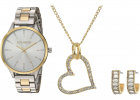 Heart Pendant Earrings Set and Watch Set SMWS074