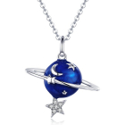 Colier din argint Silver Planet Clear Star