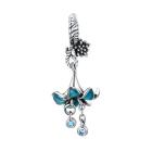 Talisman din argint Beautiful Blue Flower