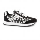 Pantofi sport femei Calvin Klein negru cu alb din piele intoarsa 2379D