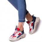 Pantofi sport dama Smaranda cu model contrastant Rosu
