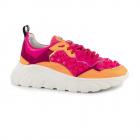Pantofi sport femei John Richmond fuxia cu portocaliu din piele 2269DP