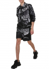 P Kumi Print A Bermuda Shirt