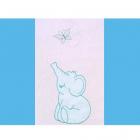 Lenjerie Patut cu Broderie Elefant 4 Piese Albastru