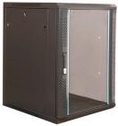 Cabinet metalic Xcab 18U Wall mount 600 x 600 Glass door
