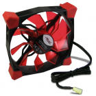 Ventilator Inter Tech CobaNitrox Extended N 120 R 120mm Red LED