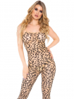 Catsuit 89267 Leopard footless bodystocking Bej