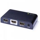 KVM 023974 2x HDMI Black