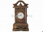 Ceas De Masa din Lemn Vintage Cu Usa Secreta TX 3809