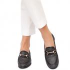 Pantofi dama Andrea cu aplicatii metalice Negru