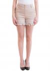 Lace Bottom Beige Shorts