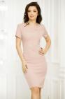 Rochie Brenda roz cu insertii stralucitoare