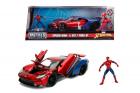 Macheta metalica Marvel Spiderman 2017 Ford GT