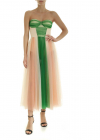 Tulle Dress In Green And Pink