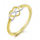 Inel din argint Golden Infinite Love