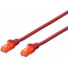 Cablu UTP Premium Patchcord Cat 6 3m Rosu