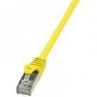 Cablu F UTP EconLine Patchcord Cat 6 0 5m Galben