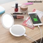 Oglinda machiaj cu becuri led si baterie externa smartphone