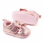 Pantofiori roz sidefati cu fundita