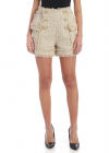 Boucle Shorts With Embossed Buttons