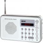 Radio portabil DR002A 521 USB Alb