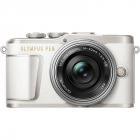 Aparat foto Mirrorless E PL9 Pancake Zoom Kit White 14 42mm Silver