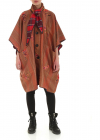 Reversible Printed Overcoat In Red