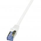 Cablu S FTP PrimeLine Patchcord Cat 6A 10G PIMF 0 25 m Alb