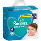 Scutece Active Baby 6 Giant Pack 68 buc