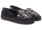 Black Espadrilles With Studs And Logo