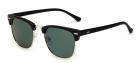 Ochelari de soare Clubmaster Retro Albastru inchis cu Verde Polarizati