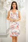 Rochie Ariah alba cu imprimeu floral colorat