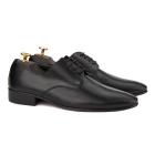 Pantofi din piele naturala neagra 0194
