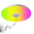 Plafoniera SMART LED Wi Fi 24W RGBW 3150 lm cu boxa bluetooth compatib