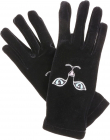 Black Heise Cat Embroidered Gloves