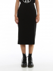 Side Vent Pencil Skirt In Black