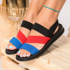 Sandale Dama fara Toc Textil Albastre Eugen B9311