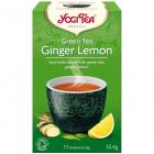 Ceai Bio Verde Ghimbir si Lamaie 17 pliculete 30 6 grame