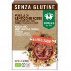 Fusilli din linte rosie fara gluten Bio 250 grame