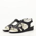 Sandale negre din piele naturala Silvia