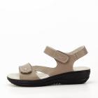 Sandale maro deschis din piele naturala Sara