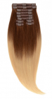 Clip On Ombre Saten Inchis Blond Deschis T4 60 Luxe