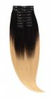 Clip On Ombre Negru Blond Deschis T1 60 Luxe